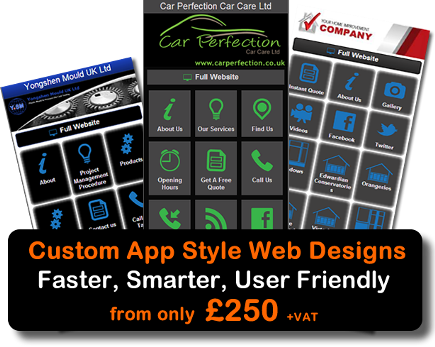 Mobile Website Design App Style