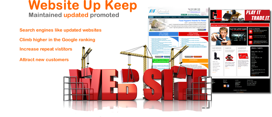 Website Upkeep and Maintenance